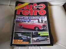 AUTO RETRO MOTO n° 36 de 1983 bon état ( Tous les cabriolets Français )