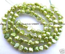 "Beautiful! 5-6mm Freshwater Pearl Loose Beads 14.5"" light green"