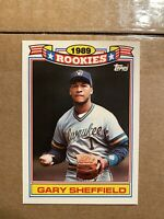 1990 GARY SHEFFIELD 1989 TOPPS ROOKIES -NICE CARD!!! -POSSIBLE 10!!!