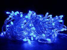 LED Lichterkette blau 100LEDs, IP44, für Innen und Außen, Weihnachten Deko Xmas