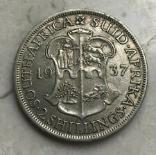 1937 South Africa 2 Shillings - Nice Silver