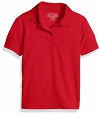 Boys' School Uniform Short Sleeve Performance Polo, Red, Size 14-16 RafS