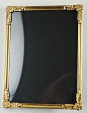 Bezaubernder Jugendstil-Metallrahmen, Messing, gewölbtes Glas,12x16 cm. (E7)