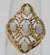 GORGEOUS Vintage 14K Yellow Gold 1.25 TCW Opal Cocktail Ring
