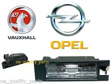 GM Opel Vauxhall Insignia Corsa D Rear License Registration Plate Lamp Light