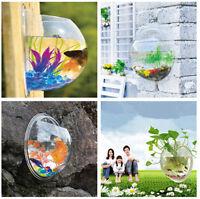 Creative Home Decor Wall Hanging Mount Bubble Aquarium Bowl Fish Tank Aquarium E