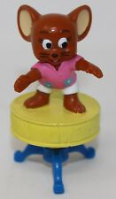 Vintage 1989 Tom & Jerry Mouse on Drum Stool Plastic Figure Toy Collectible