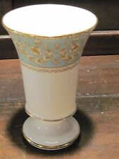 Spode vase green and gold 1833 design reroduction