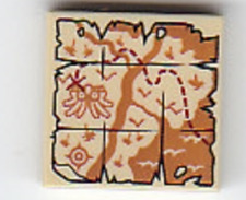 Lego City Map River Tile (3068bpb1088) From 60161 Jungle Exploration Site