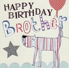 Feliz Cumpleaños hermano papel ensalada tarjeta de felicitación hermosas Tarjetas en blanco en el interior