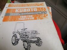 Kubota B4200D 4WD Tractor Parts List Manual