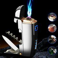 Multifunction Cigarette Lighter Tobacco Pipe Lighter Windproof Opener Tool USB