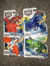 Transformers Rescue Bots Dinobot lot of 4, Heatwave, Boulder, Blades, Chase