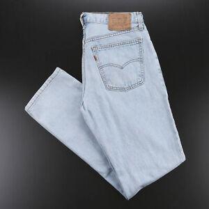 Vintage LEVI'S 615 Blue Denim Regular Straight Jeans Mens W33 L34