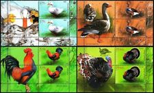 MOLDOVA 2018-13 FAUNA Farm Birds: Poultry. Duck Rooster etc. Pairs w. LABEL, MNH