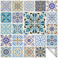 Traditional Tile Stickers Vintage Transfer Decal For Kitchen Bathroom DIY - T15