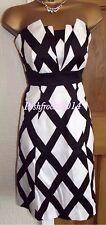 ELEGANT ❤️ COAST BLACK WHITE DIAMOND DRESS SIZE 8 10 Party Wedding Occasion