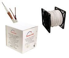 500ft Rg59 Siamese 20Awg Cable Coxial + 18/2 Security Camera Wire - Bulk White
