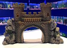 Large Castle Bridge with Turrets Aquarium Fish Tank Ornament 840