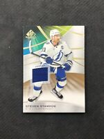 2019-20 UPPER DECK SP GAME USED STEVEN STAMKOS GAME-USED JERSEY GOLD #12