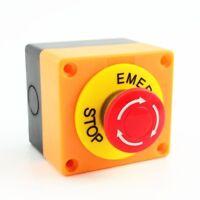 LAY37-11ZS NO+NC Emergency Push Button Mushroom Cap Stop Switch CA