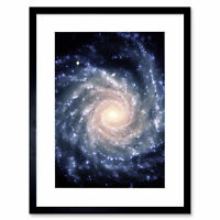 Space Spiral Galaxy Universe Framed Art Print Poster 12x16 Inch