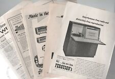 1950s Vintage Audio Equipment Record & Tape Players Original Adverts £4.75 each