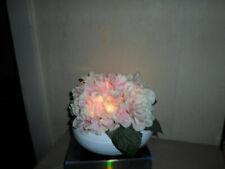 LUMIDA FLORA leuchtende Hortensienblüten in Keramikschale,Timer,QVC