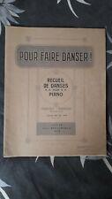 Recueil de danses pour piano, partitions musicales