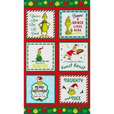 Robert Kaufman How The Grinch Stole Christmas 8 Christmas Panel 24x43inches tall