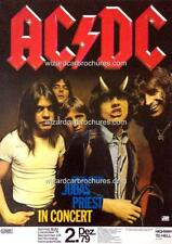 ACDC BON SCOTT HIGHWAY TO HELL DEC 2 1979 GERMANY A3 CONCERT BILL POSTER PRINT