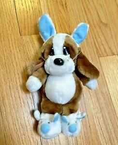 Sad Sam Easter Bunny Ears Plush Applause Stuffed Animal Dog Rabbit Slippers