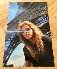 Europe 1991 Joey Tempest Poster Swedish POP magazine Okej Vintage
