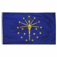 State of Indiana Flag 4x6 Foot Nylon Grommets