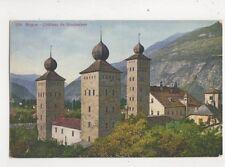 Brigue Chateau de Stockalper Switzerland Vintage Postcard Jaeger 468b