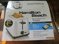 Toaster - Hamilton Beach stainless steel,  2 wide slices, never used
