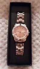 Avon Womens Diamond Watch Signature Brilliance NIB Pink Face Silvertone