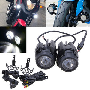 Pair For BMW R1200GS Motorcycle Auxiliary Fog Light Safety Driving Spotlight LED