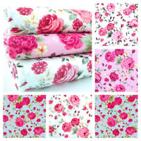 JOSEPHINE ROSE - 100% COTTON FABRIC  FLORAL ROSES SHABBY VINTAGE CHIC