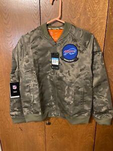 Women's Nike NFL Buffalo Bills Salute Service Camo Jacket Bomber AT7863-222 Sz M