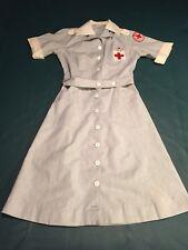 Original 1940s - 1950s WWII WW2 Gray Nurse Uniform Pin & Belt American Red Cross