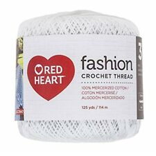 Red Heart Fashion Crochet Thread Size 3-white