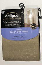 "ECLIPSE BLACK OUT CURTAIN PANEL SAMARA LATTE  42"" x 84"" NEW"