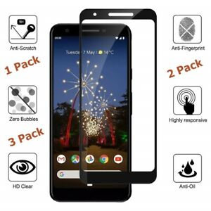 Tempered Glass Screen Protector For Google Google Pixel 4 3 3a XL Full Cover