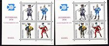 Stamps/Switzerland: 1974 Souvenir Sheets-1 MINT, 1 with FIRST DAY CANCEL