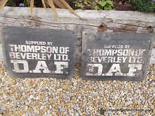 Pair Vintage DAF Thompson Lorry Mud Flaps Collectable Ref T12/265