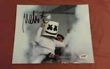 DJ MARSHMELLO signed auto 8x10 photo CHRIS COMSTOCK DOTCOM w/PROOF PSA/DNA COA