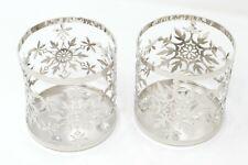 Yankee Candle Holiday Snowflake Metal Jar Sleeve, Silver, Set of 2