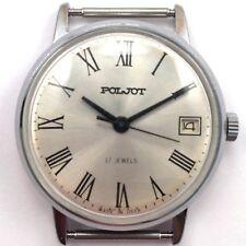 Vintage Soviet POLJOT, Mechanical wristwatch, Classic Silver Dial, USSR, #986