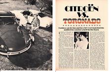1969 CITROEN VS TORONADO  ~  ORIGINAL 6-PAGE ARTICLE / AD
